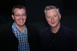 Alun Parry with Billy Bragg