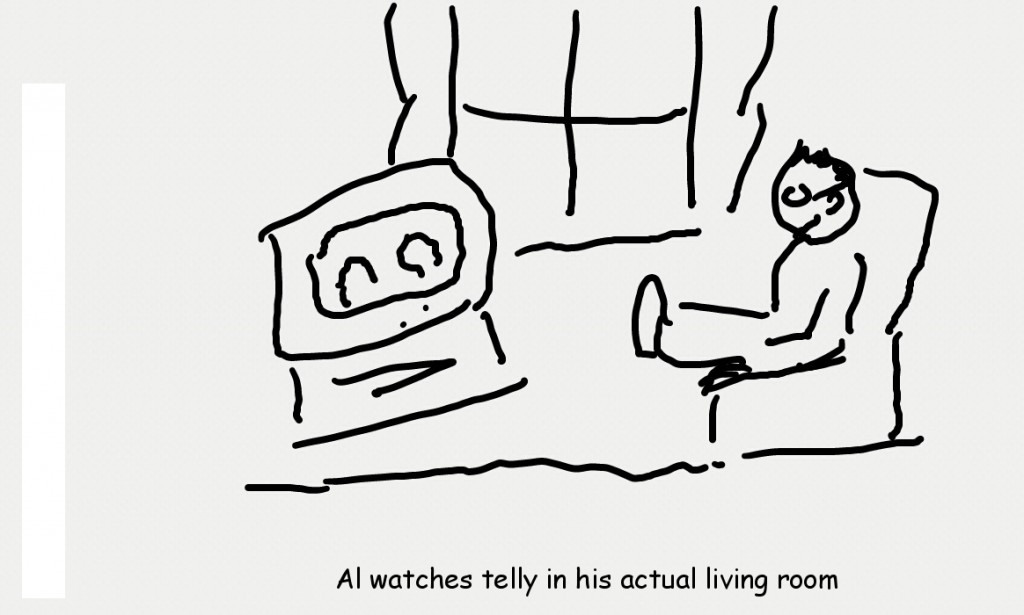 Al Watches TV