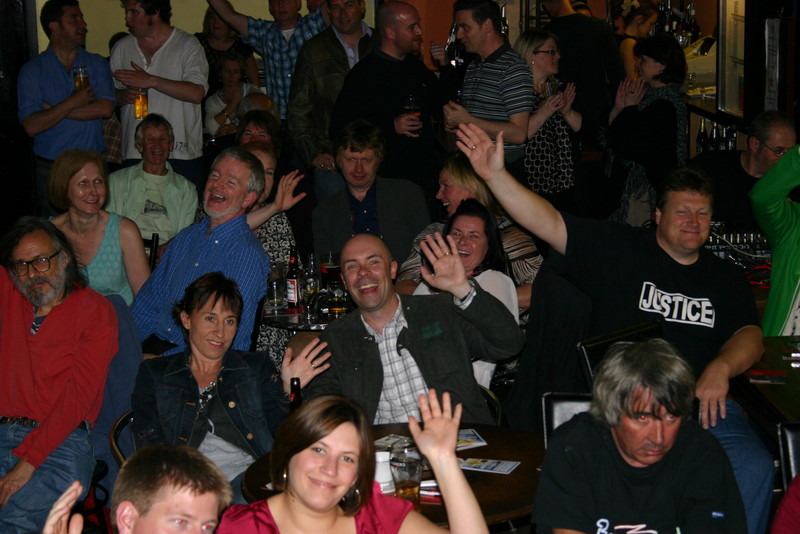 The crowd at the launch gig