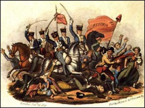 Print of St Peter's Massacre