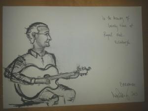 Drawn by Mojca at The Royal Oak.